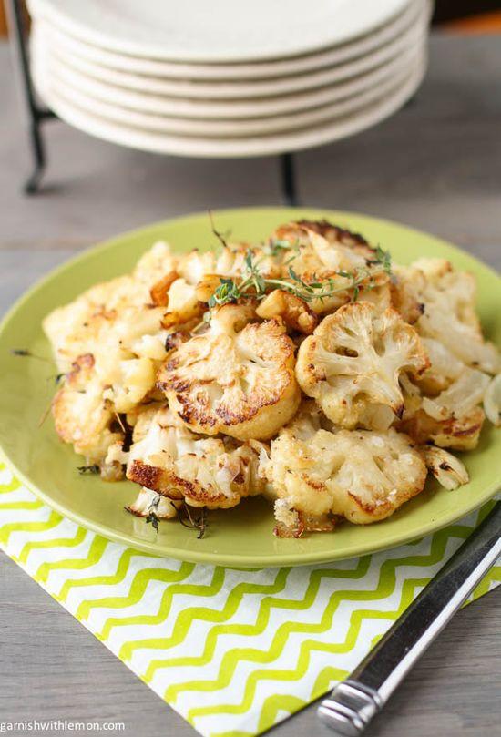 Parmesan Roasted Cauliflower by garnishwithlemon  Here is the link: www.garnishwithle... #Cauliflower #Parmesan #Healthy