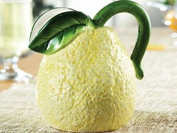Fresh Fruit Ceramic Lemon Pitcher in Yellow - $23