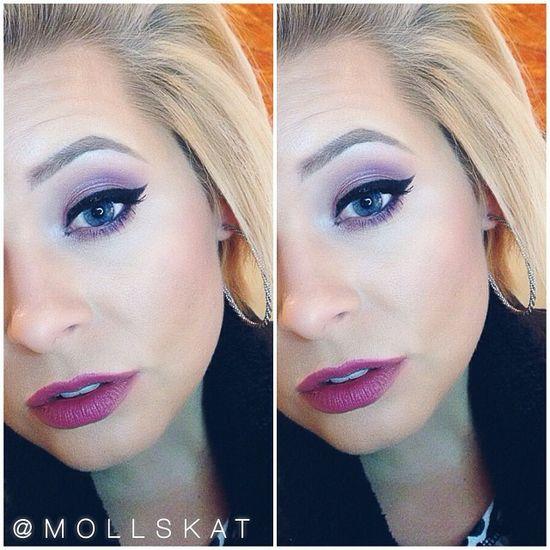 pink smokey eye makeup idea