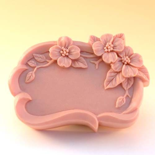 Silicone Handmade Flower Pattern Soap Mold Chocolate Mold