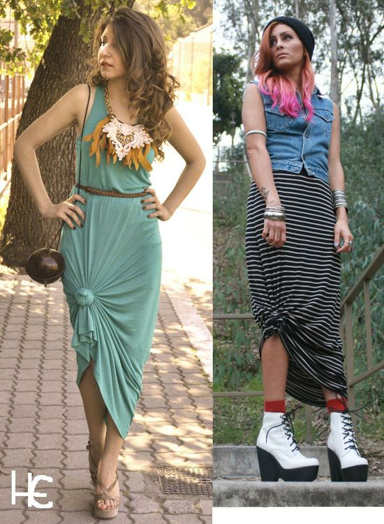 knotted maxi skirt