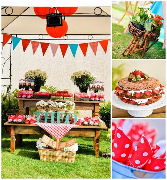 Garden Picnic Party with Lots of Really Cute Ideas via Kara's Party Ideas