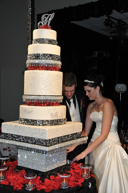 That is a lot of bling!  Cake stand is almost just like the one my brother made last month.