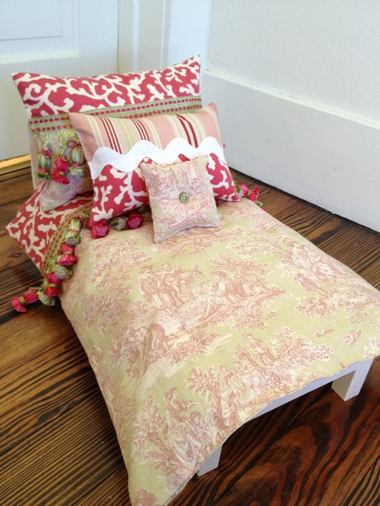 Doll Bedding Set for American Girl and other by FourLittleWomen, $37.00