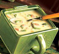 Cheesy Asparagus Potato Soup