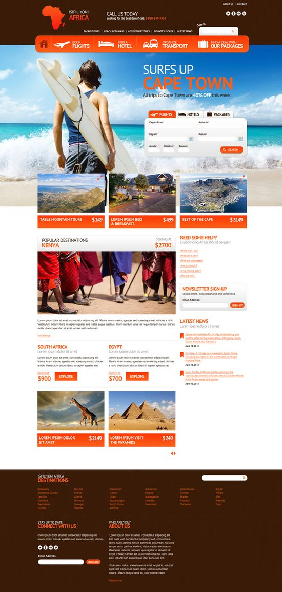 Isipiliyoni Africa on Web Design Served