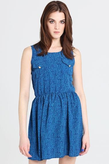 print pocket dress