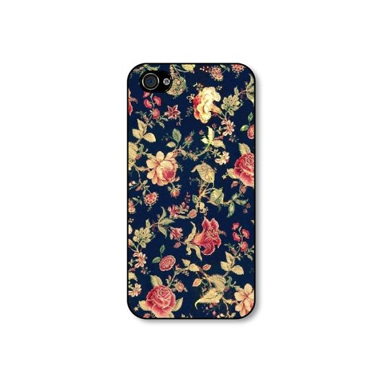 Rubber iphone 4 case  Vintage Embroidery Floral by CaseHive, $16.99