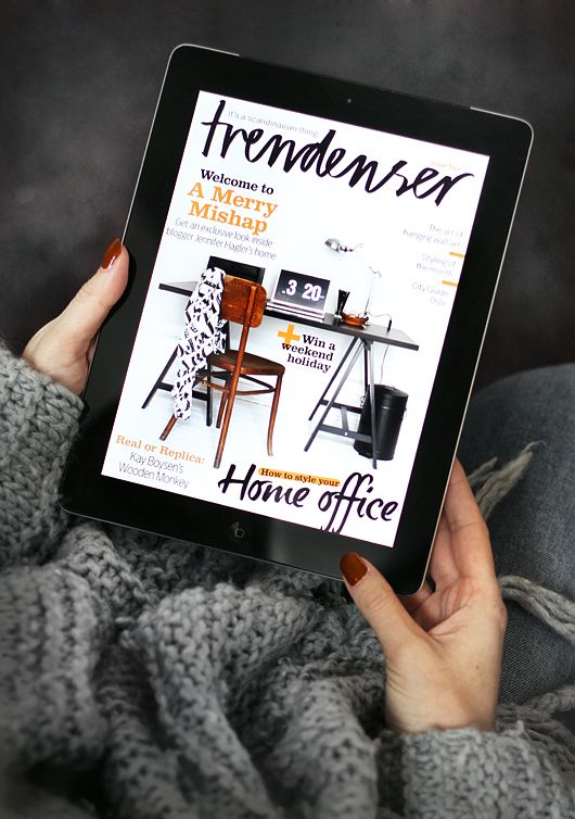 Cuddle up with the latest issue of Trendenser iPad magazine! Out now in AppStore.