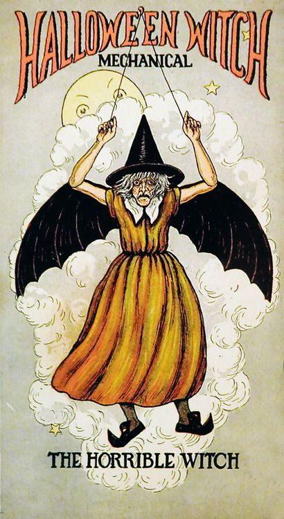 "Beistle envelope for "" The Horrible Witch"" decoration c. 1920's"