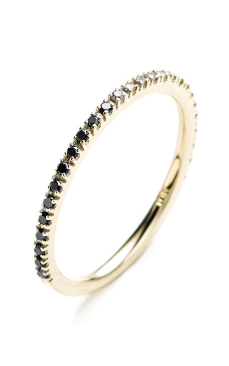 Gossamer black and white diamond ring. Quite pretty and affordable enough to stack them up!