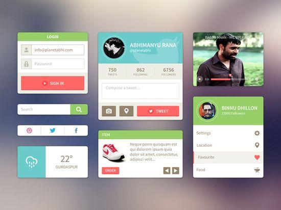#flat #ui #ux #interface #kit