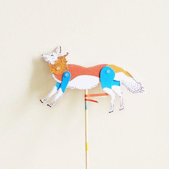 DIY Paper Puppet - FOX