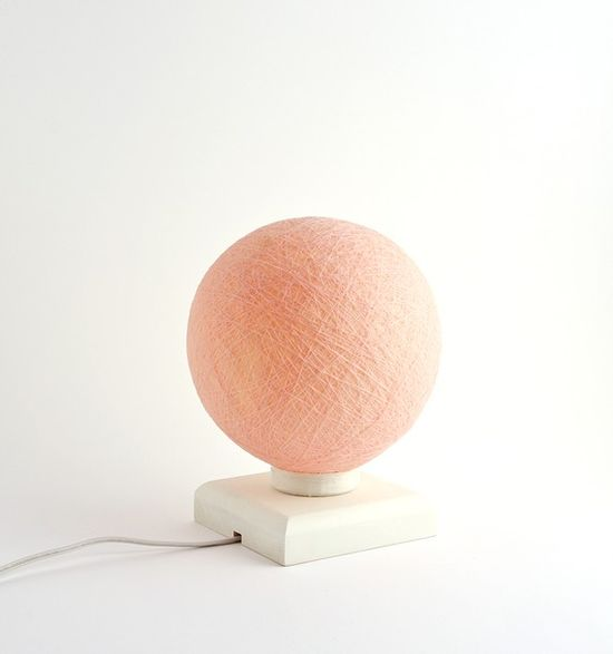 soft peach table lamp $45