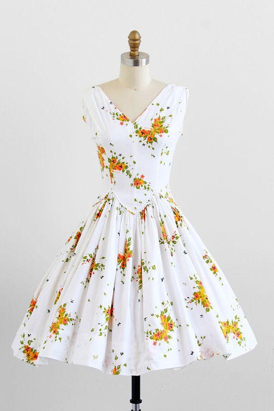 vintage 1950s cotton sundress