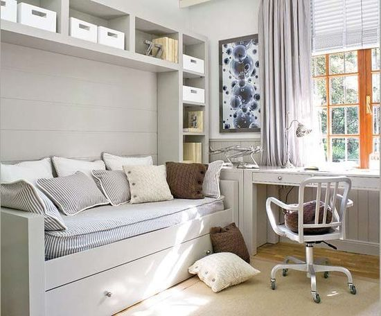 daybed next to desk