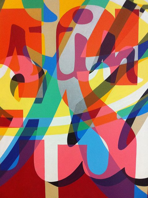 Exploring colour, shape and composition through typography play