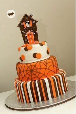 Orange Halloween cake!