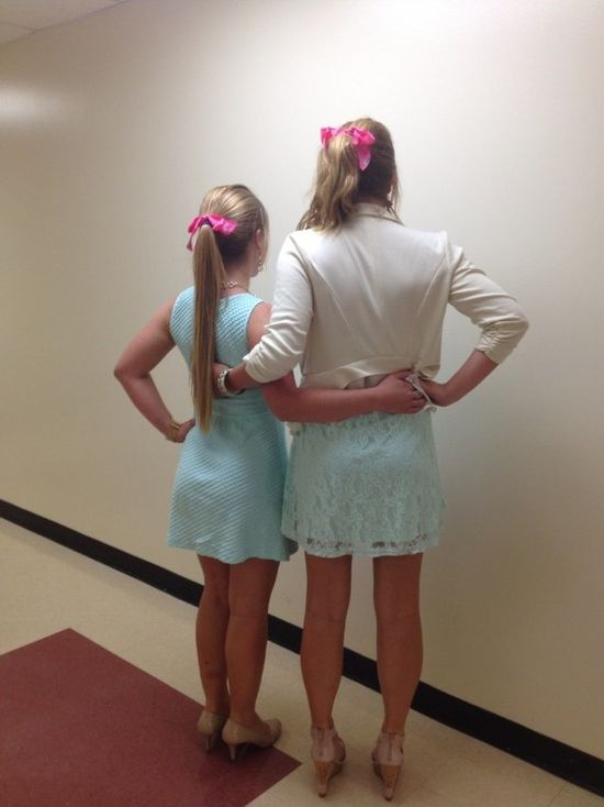 Accidentally matching chapter outfits with your best friend. TSM.