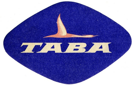 Taba airlines luggage label, via Flickr.