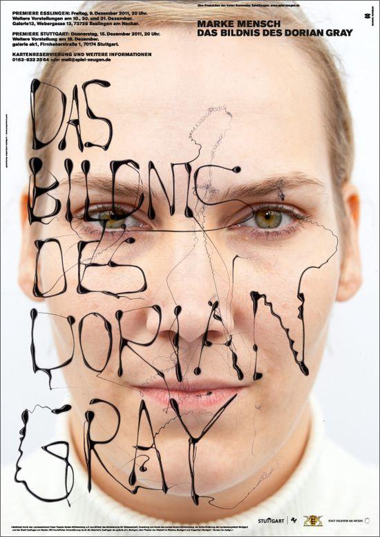 Marke Mensch – Das Bildnis des Dorian Gray / Plakattriptichon