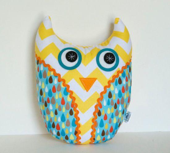 Children's Plush Owl Softie Stuffed Animal by FriendsOfSocktopus, $25.00