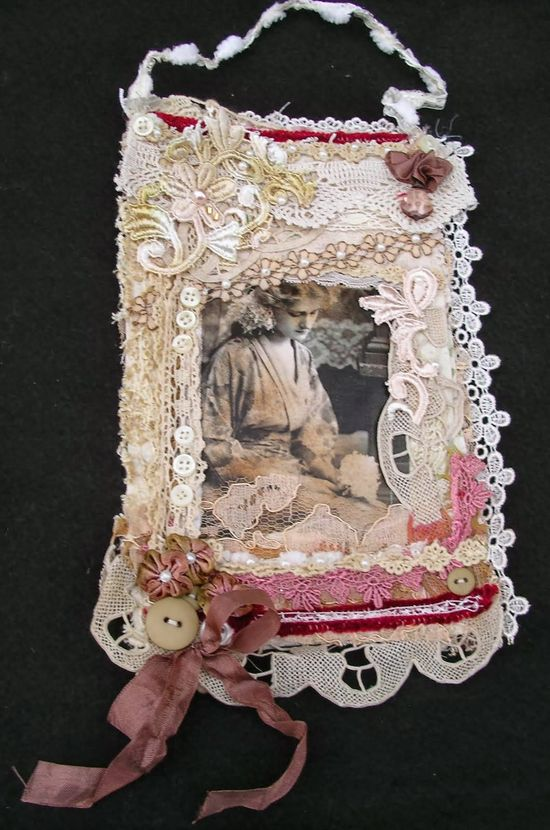 Fabric Collage- Vintage style