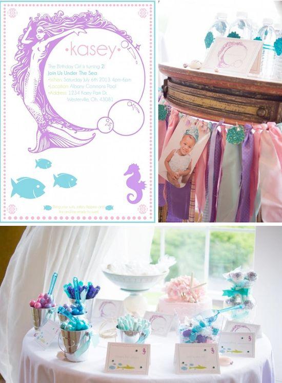 Whimsical Mermaid Party Full of Really Cute Ideas via Kara's Party Ideas