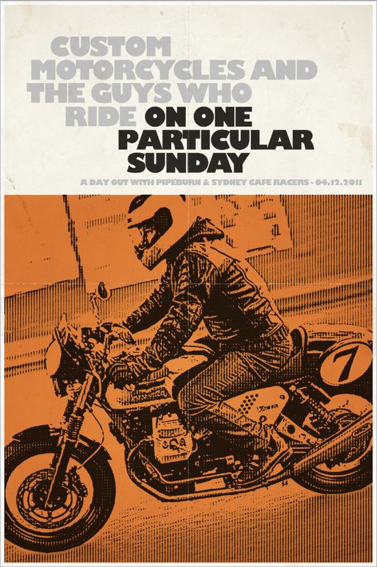 "Summer Ride Reminder - ""On One Particular Sunday"" - Pipeburn - Purveyors of Classic Motorcycles, Cafe Racers & Custom motorbikes"