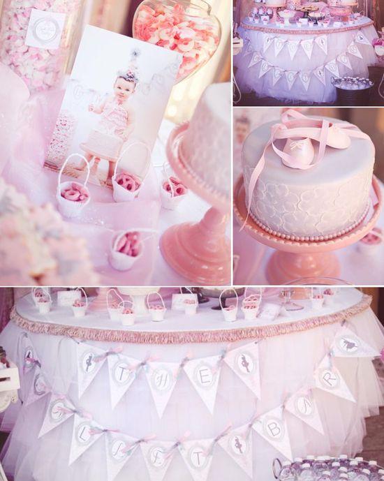 Pink Ballerina Ballet themed birthday party via Kara's Party Ideas karaspartyideas.com #ballet #ballerina #pink #girl #party #ideas #cake #decor