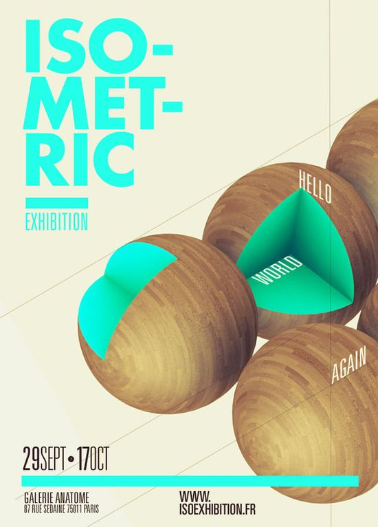 poster / ISOMETRIC EXHIBITION by Thomas Ciszewski
