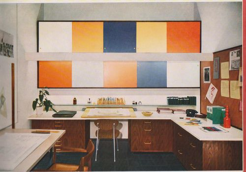Mid-Century Office Design. via Tumblr