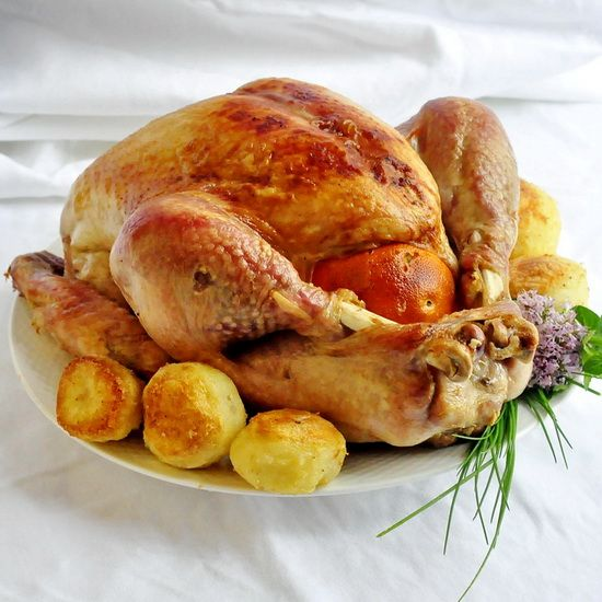 Orange and Clove Brined Roast Turkey - brining the bird overnight infuses flavor throughout and ensures a juicy succulent turkey.