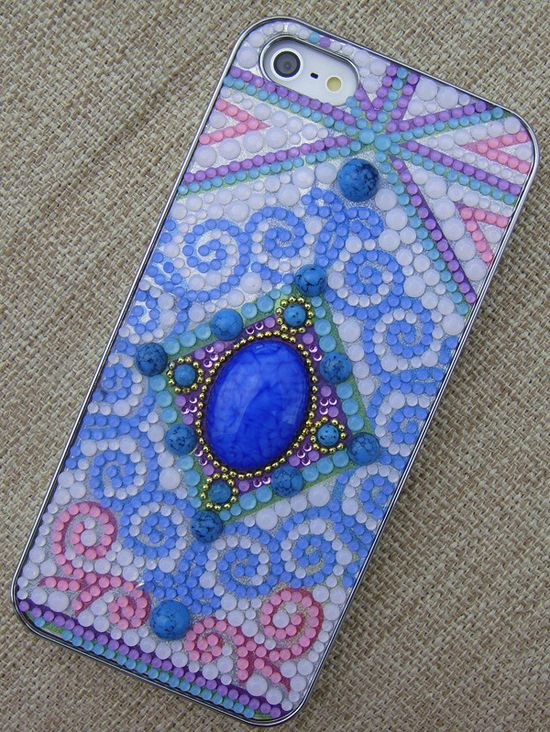 Gem stone iphone case for Iphone 5