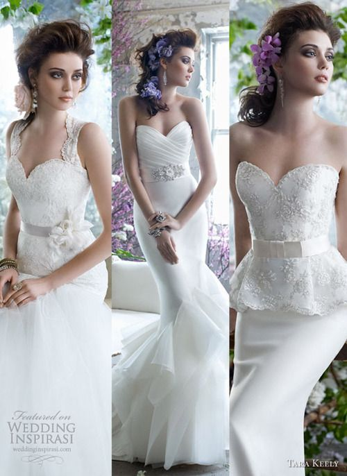 We love these dresses from the Tara Keely Fall 2012 Collection.