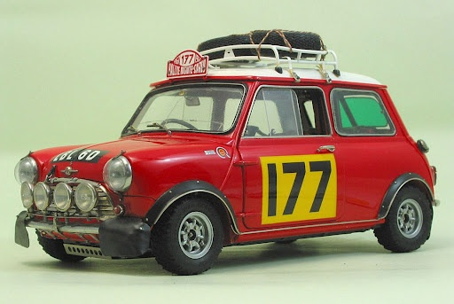 Morris Mini Cooper 1275 'S' Winner of 1967 Monte Carlo Rally.  My car!!! Don't touch!