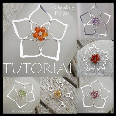 Beautiful silver wire flowers. (And she's got even more wirework flower tuts available!)