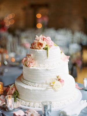 Combed Icing Wedding Cake