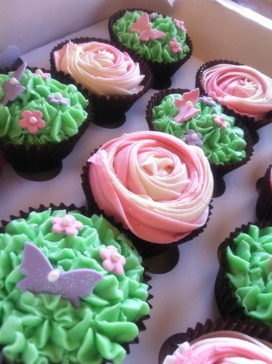 Rose Garden Cupcakes
