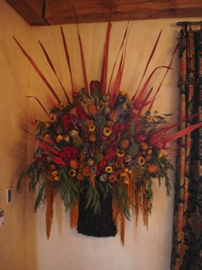 Dried Fall Flower Arrangement - awesome