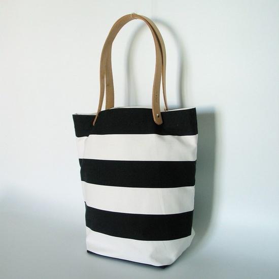 striped tokyo tote