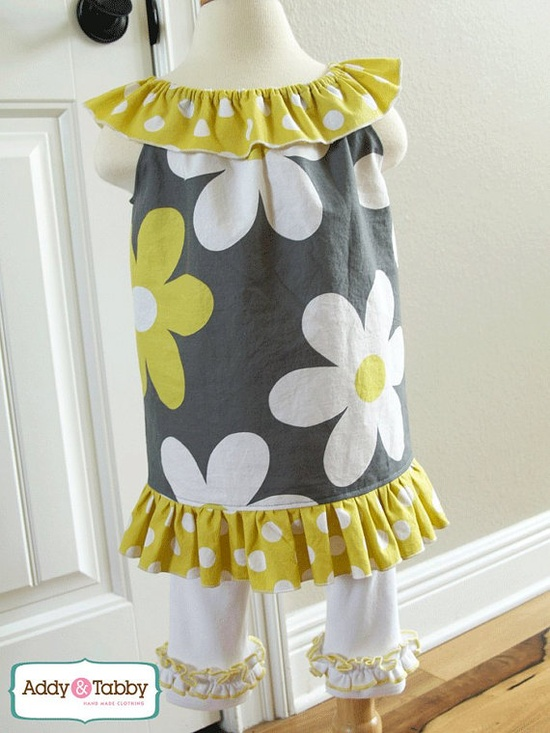 PDF pattern - ruffle dress