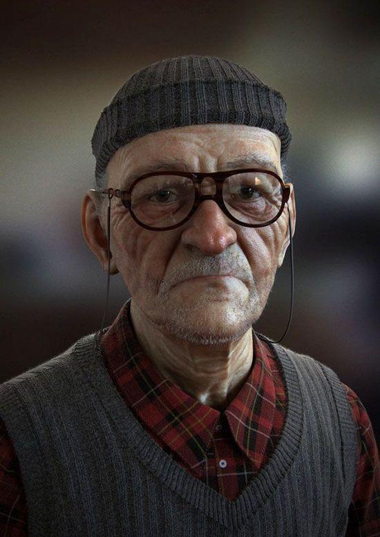 30 Realistic Men 3D Portraits and Tips for Making Realistic 3D Character Designs. Follow us www.pinterest.com...