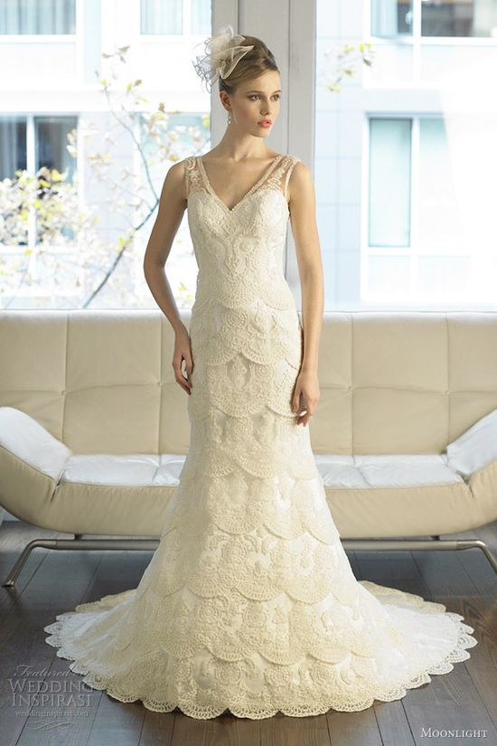 moonlight bridal fall 2012 wedding dress