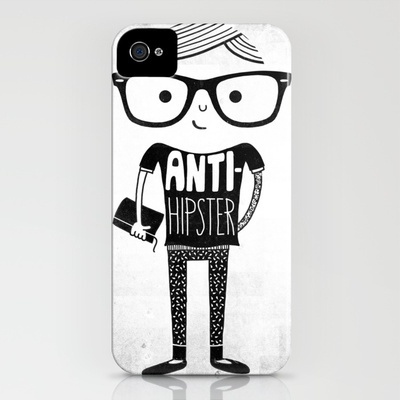 Anti-hipster iPhone case by Farnell