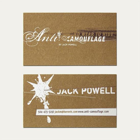 Anti Camo Business Card by Cranky Pressman