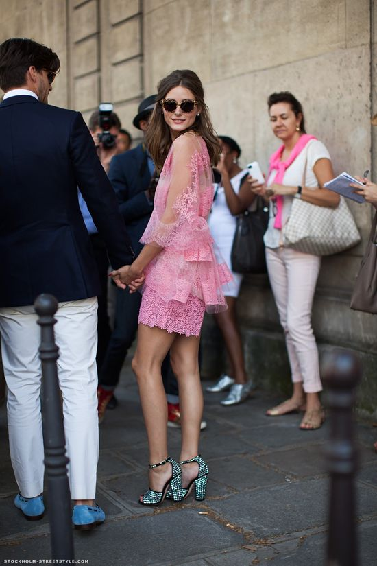 pink lace dress  #oliviapalermo
