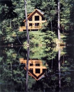 Adirondack Country Log Homes - Now that'a a view I'd