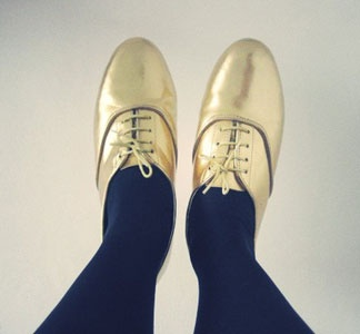 gold oxfords!