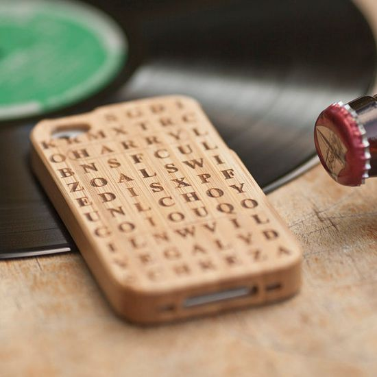 For the dad who loves to do puzzles on his iPhone: a custom word search phone cover.